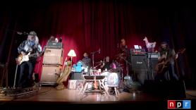 Dinosaur Jr Tiny Desk Concert NPR Home video stream watch J Mascis live Dinosaur Jr, photo via YouTube/@NPR