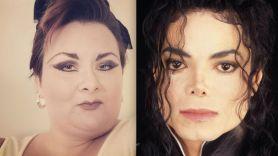 Michael Jackson ghost married woman marriage Kathleen Roberts (photo via Instagram/@ghosthost141) and Michael Jackson