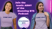 Stanning BTS Iconic ARMY t-shirt