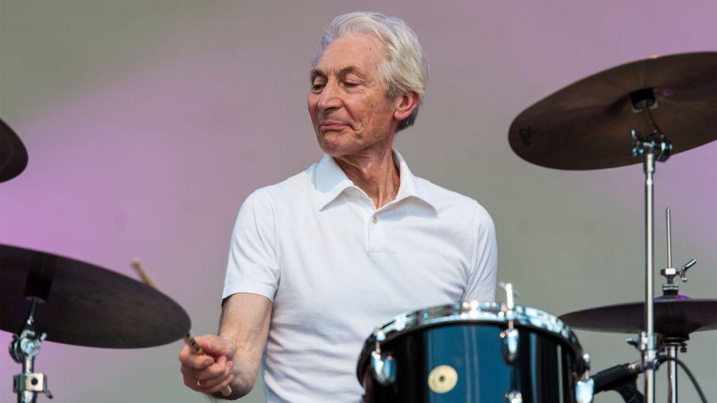 Charlie Watts of The Rolling Stones, photo by Jack Vartoogian/Getty Images