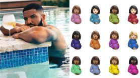 drake certfied lover boy artwork emojis damien hirst pregnant women cartoons