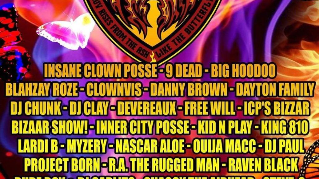 gathering of the juggalos 2021 lineup poster
