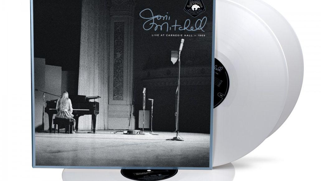joni mitchell carnegie hall debut white vinyl artwork