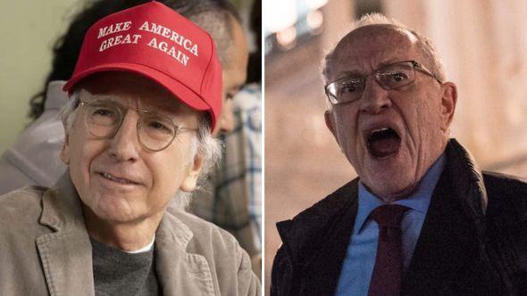 larry david alan dershowitz scream martha's vineyard donald trump