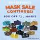 Get 50% Off All Face Masks