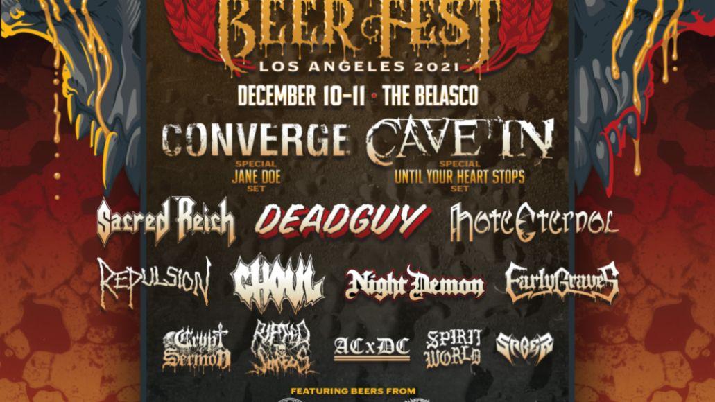metal beer fest 2021 Decibel Metal & Beer Fest 2021 Los Angeles Lineup: Converge, Cave In, Sacred Reich, Deadguy, and More