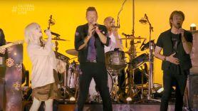 Coldplay billie eilish global citizen finneas camila cabello shawn mendes bts climate change