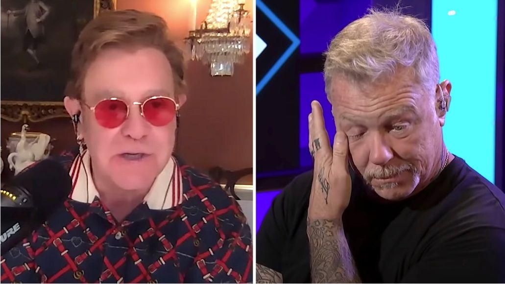 Elton John James Hetfield tears