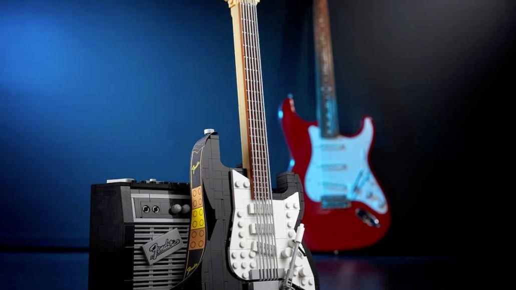 Lego Fender Strat Black