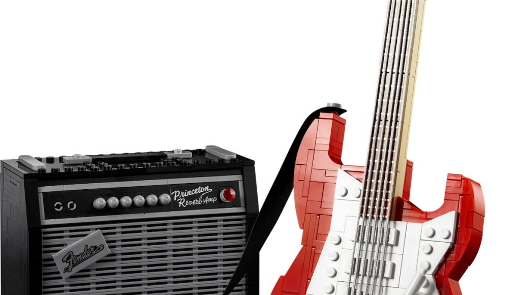 Lego Fender Strat Red