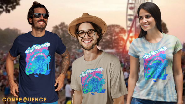 radiate positivity bonnaroo hurricane ida cancellation benefit charity t-shirt merch