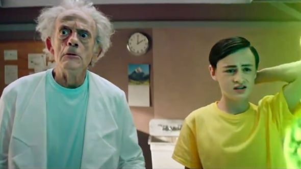 rick and morty christopher lloyd Jaeden Martell adult swim commercial c-132