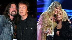 Dave Grohl with Paul McCartney / Taylor Swift with Carol King