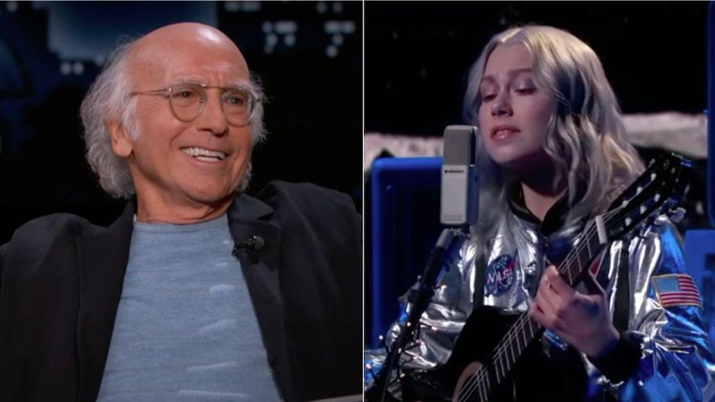 Larry David and Phoebe Bridgers on Kimmel