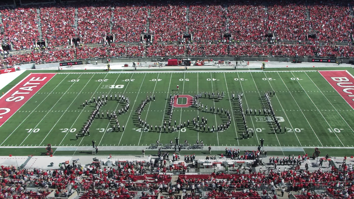 Ohio State's Marching Band Pays Tribute to Legendary Band, Rush