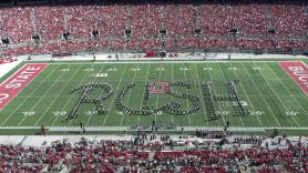 Ohio State Marching Band performs Rush Music