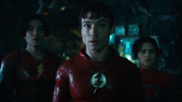 flash batman supergirl dc fandome movie first look sneak peak teaser